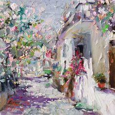"Oleg Trofimov ~ ""The spring sun south"" Oil on Canvas Impasto Style - VERY nice work."