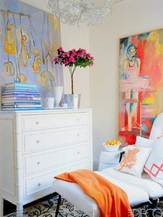 Love the art and the pops of orange