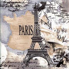 Paris Noir Cream  Timeless Treasures  Fat Quarter di BywaterFabric, $3.00