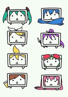 Tvloid Miku, Kaito, Rin, Gakupo, Len, Gumi, Meiko & Luka