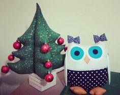 Almofada coruja porta controle! Ótima opção para presentear nesse natal♡