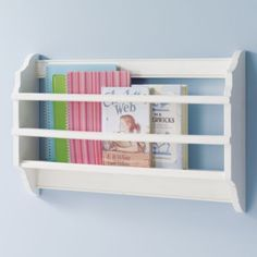 Bin There Done That Wall Book Bin (White)  | The Land of Nod