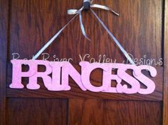 Your place to buy and sell all things handmade Word Wall Decor, Wooden Words, Word Art, Princess, Handmade, Home Decor, Hand Made, Decoration Home, Room Decor