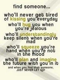 Reminds me of George. I love it when he makes me jealous and then hugs me tight from behind and laughs at me.