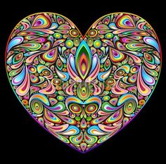 Psychedelic Heart by Bluedarkat Lem.  Fabulous!  Would be treat but hard embroidery design