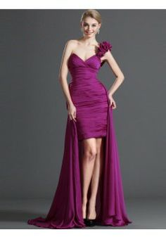 Sheath/Column One Shoulder Chiffon Burgundy Long Prom Dresses/Evening Dress With Hand-Made Flower #FC683 - See more at: http://www.victoriasdress.com/prom-dresses/cheap-prom-dresses.html#sthash.2FzO4pAX.dpuf