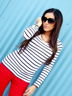 red pants + stripes = love