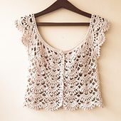 Crochet lace summer cardigan picot fan stitch