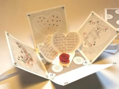 Exploding Box Card For Wedding by StardustPaper on Etsy, $15.50