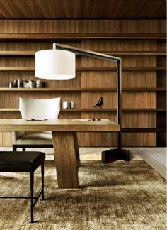Christian Liaigre - walnut shelves, light floors