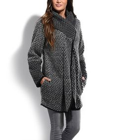 Look what I found on #zulily! Gray Woven Wool-Blend Pea Coat #zulilyfinds