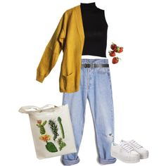 Out to the store by artangels on Polyvore featuring art