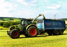 Carting silage using one of our K-Two trailers fitted with low ground pressure flotation tyres