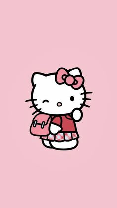 Hello Kitten, Hello Kitty Art, Hello Kitty Themes, Hello Kitty Wallpaper, Kawaii Wallpaper, Hello Kitty Pictures, Kitty Images, Cool Paper Crafts, Cartoon Background