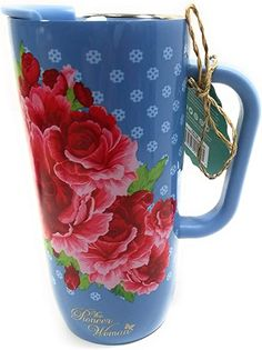 Pioneer Woman Dishes, Pioneer Woman Kitchen, Pioneer Women, Country Blue, Insulated Travel Mugs, My Room, Florals, Stainless Steel, Dining