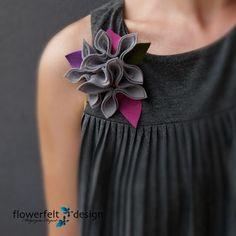 Flower felt brooch