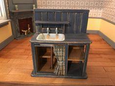 Dollhouse Miniatures ~ Wooden Handmade Sink Unit ~ Marquis Miniatures ~ 2007 #Reutter