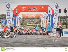 Children At The Start Tour Of Norway For Kids Editorial Stock Photo - Image of salmon, sortrondelag: 75161458 Norway Tours, Vectors, Salmon, Sign, Stock Photos, Children, Free, Image, Young Children