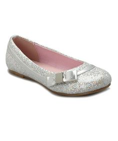 Loving this Silver Sparkle Quenby Flat on #zulily! #zulilyfinds