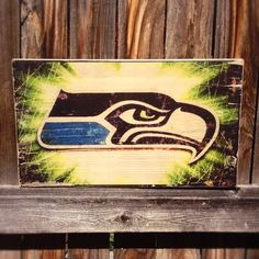Seattle Seahawks Team Logo Wooden Wall by MegAndMosClubhouse