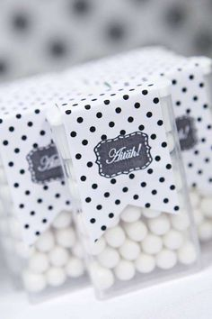 Black and White Party Favor