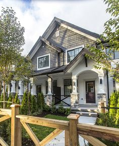 This multi-family strata community in Surrey features our Centra black vinyl windows.