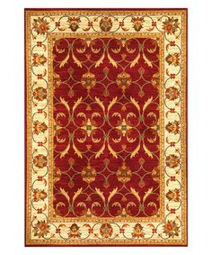 Take a look at this Red Lifestyles Rug by KAS Rugs on #zulily today!
