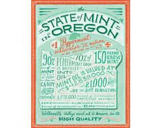 The State of Mint in Oregon - Mary Kate McDevitt • Hand Lettering and Illustration