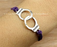 Jewelry braceletsilvery handcuff by ThePrettyJewelryShow on Etsy, $0.99