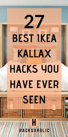 Jun 2019 - There are so many great Ikea Kallax hacks out there but which are the best? We've brought together the very best Ikea Kallax hacks for you in one place. You can create so many gorgeous and practical pieces of furniture with an Ikea Kallax. Hacks Ikea, Ikea Kallax Hack, Ikea Kallax Regal, Ikea Furniture Hacks, Furniture Ideas, Ikea Vittsjo, Diy Hacks, Laminate Furniture, Office Furniture