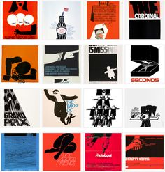 Every Movie Poster that Saul Bass Ever Made.