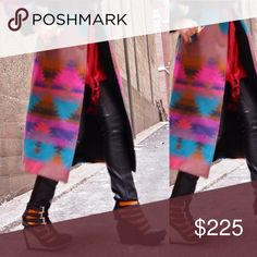 6db22dd5f8a Vintage coat Vintage southwest coat with beautiful colors print 70% wool   30%