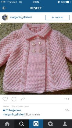 Free Knitting Pattern Baby Cardigan with Cables Baby Cardigan Knitting Pattern Free, Easy Knitting Patterns, Knitting For Kids, Knitting Designs, Baby Patterns, Baby Knitting, Cardigan Pattern, Pink Cardigan, Free Knitting