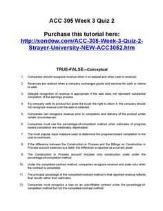 Acc 305 week 3 quiz 2 strayer university new