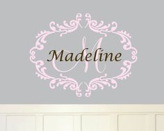 Hey, I found this really awesome Etsy listing at https://www.etsy.com/listing/84988887/baby-girl-monogram-wall-decal-name