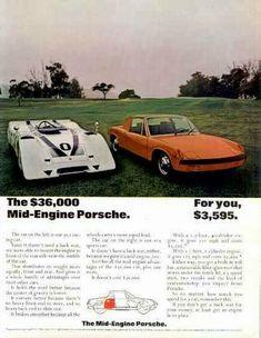 """1974 Porsche 914 The ACTION Porsche-Original Print Ad 9 x 11/"""""""