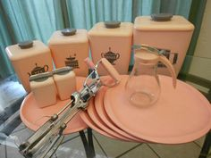 50s Pink Retro Kitchen Wares - Instant 50s Decor-Fabulous Kitsch Collection