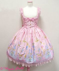 Magic Princess round JSK in pink (or lavender) - Angelic Pretty