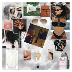 """""""day with Ariana"""" by nikoleta-nicky-malik ❤ liked on Polyvore featuring Philipp Plein, Victoria's Secret, Kobelli, Michael Antonio, Billabong, GV2 by Gevril, Michael Kors, Casetify, Ray-Ban and FOSSIL"""