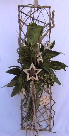 Bloemschikken Rosalie: Bloemschikken Advent & Kerst 2012 - Deurhanger