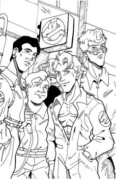 Epic ghostbusters coloring page with stay puft fun for Stay puft coloring page