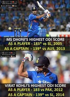 Mother of Coincidence :P For more cricket fun click: http://ift.tt/2gY9BIZ #ViratKohli #MSDhoni - http://ift.tt/1ZZ3e4d