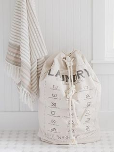 Our Canvas Laundry Bag is designed with laundry symbols and a draw string for easy opening. Perfect for housing clean or unclean laundry in your home or on the