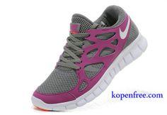 Kopen goedkoop Schoenen dames nike free run 2 (kleur:flirt-grijs,roze