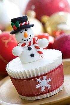 Magdalenas para la Navidad hermosa y deliciosa