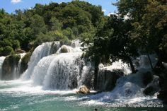 Skradinski buk is the longest waterfall on the Krka River. It can be reached from the Lozovac entrance.