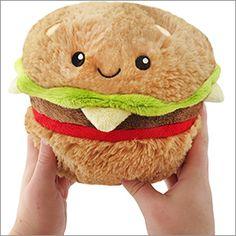 Mini Squishable Hamburger: An Adorable Fuzzy Plush to Snurfle and Squeeze! Mini Hamburgers, Food Pillows, Cute Pillows, Toy Art, Food Plushies, Protein In Beans, Cute Stuffed Animals, Cute Plush, Cute Food