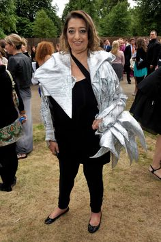 Zaha Hadid at The Serpentine Gallery summer party in London in 2009.