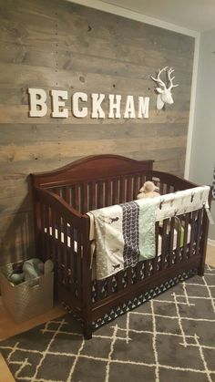 Baby Boy Nursery Modern Outdoor Theme With Pallet Wall