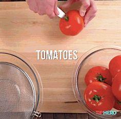 Sausage-Stuffed Tomatoes #recipes #gifrecipes